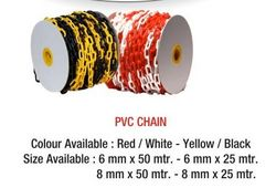 P.V.C CHAIN RED & WHITE