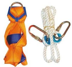 SAFETY HARNESS WITH ROPE HOOK ORANGE COLOR