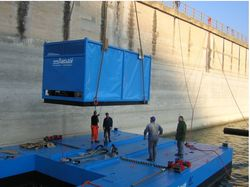 PONTOONS FOR DREDGING PUMP INSTALLATION