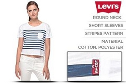 Levi's Loose Fit Short Sleeve Crop Top For Women -