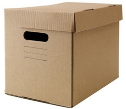 Storage Box With Lid - Brown
