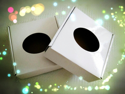 Corrugated With Glossy Film White Paper Box