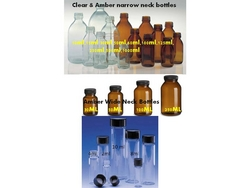 AMBER AND CLEAR GLASS BOTTLES(ALPHA/BOSTON BOTTLES