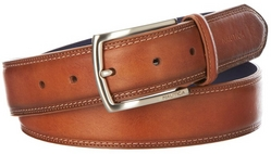 Nautica Mens Leather Feather Edge Belt
