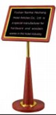 WOODEN MENU/SIGN STAND