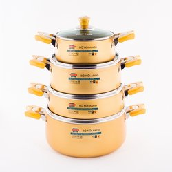 Soft Anodized Aluminum Pot