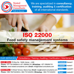 ISO 22000 Certificate