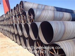 Building construction of welded coiled line pipe