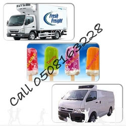 Refrigerated Truck,Chiller van,Freezer pallet pickup,Reefer Trailer,Catering transport rental UAE
