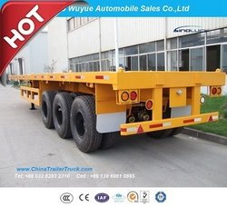3 Axle 40FT Flatbed Truck Semi Trailer
