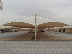 Double Shade Cantilever car Parking sunshade