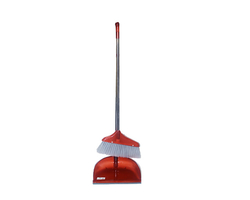 long dust pan with long brush