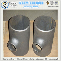 black carbon steel pipe saddle pipe fittings barred tee