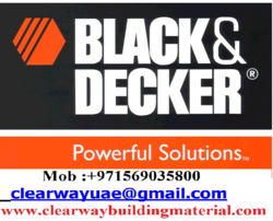 BLACK AND DECKER DEALER IN MUSAFFAH , ABUDHABI , UAE