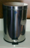 S/S PEDAL DUST BIN WITH PLASTIC LINER