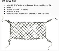 GANGWAY NET from GULF SAFETY EQUIPS TRADING LLC