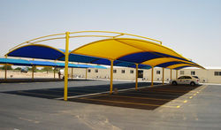 CAR PARK SHADES, GRP Car Parking Shades in UAE from IMAGE FIBRE GLASS INDUSTRY