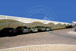WAVE MODEL CAR PARKING SHADE from AL RAWAYS TENTS & CAR PARKING SUNSHADES