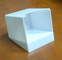 Paper cube holder in Plastic from AL BARSHAA PLASTIC PRODUCT COMPANY LLC