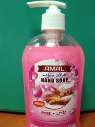 Hand Soap Liquid Rose 500 ml from AL MAS CLEANING MAT. TR. L.L.C