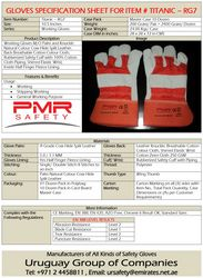 PMR SAFETY GLOVES from URUGUAY GROUP OF COMPANIES
