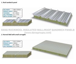 Fire rated RockWool/MineralWool Sandwich Panel    from DANA GROUP UAE-INDIA-QATAR [WWW.DANAGROUPS.COM]