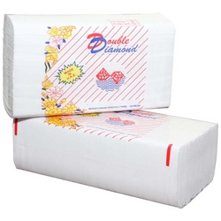 Double Diamond Interfold Hand Towel  from AL MAS CLEANING MAT. TR. L.L.C
