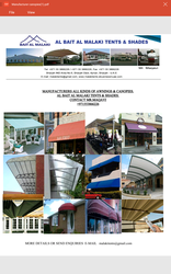 CANOPIES, AWNINGS, TENTS, CAR PARK SHADES, IN SHAR from AL BAIT AL MALAKI TENTS & SHADES. +971553866226