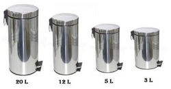Stainless Steel Pedal Bin from DAITONA GENERAL TRADING (LLC)
