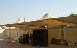CANTILEVER CAR PARKING SHADES IN UAE +971522124676 from AL BAIT AL MALAKI TENTS & SHADES +971522124676