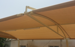 Pyramid car park shades in uae from AL BAIT AL MALAKI TENTS & SHADES +971522124676