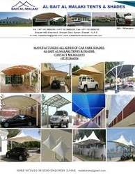 CAR PARK SHADES SUPPLIERS IN UAE  from UMAIR TENTS & SHADES 00971557781265