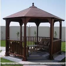 Outdoor Garden Wooden Pergola Suppliers in Dubai from AL BAIT AL MALAKI TENTS & SHADES +971522124676