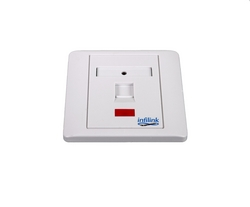 Face Plate - 86 x 86 UK Style, Single Port from SYNERGIX INTERNATIONAL