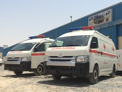 TOYOTA HIACE HIGH ROOF AMBULANCE  from AUTO ZONE ARMOR & PROCESSING CARS LLC
