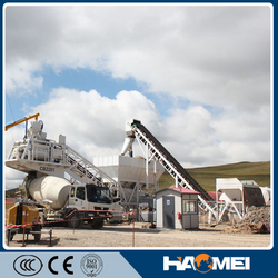 YHZS50/60 Mobile Ready Mix Concrete Plant Companie from HAOMEI MACHINERY EQUIPMENT CO.,LTD