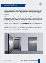 COLD ROOM DOORS from ISOTHERM INSULATIONS FZE