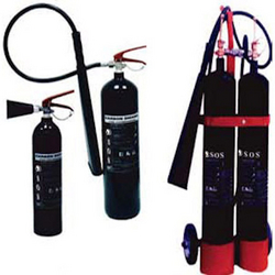 Carbondioxide fire extinguisher portable Abudhabi from SOS GROUP