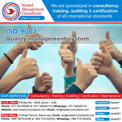 IS0 9001 Certification in UAE from NESTED MANAGEMENT CONSULTANTS