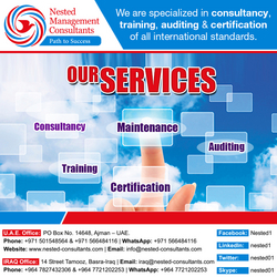 IS0 CERTIFICATE from NESTED MANAGEMENT CONSULTANTS