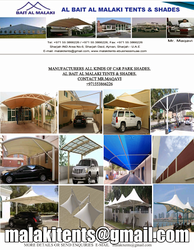 Car Parking Shades Sail Suppliers in UAE from BAIT AL MALAKI TENTS AND SHADES +971522124675