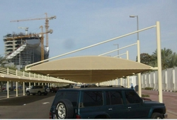 Car Parking Shade Fabric For UV Stablized in UAE from BAIT AL MALAKI TENTS AND SHADES +971522124675