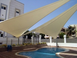 Swimming Pool Shades in UAE from BAIT AL MALAKI TENTS AND SHADES +971522124675