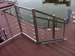 SS handrails with cable from EURO STEEL AND ALUMINIUM LLC
