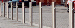 Stainless Steel/Plastic Bollards in dubai from SAHARA DOORS & METALS LLC
