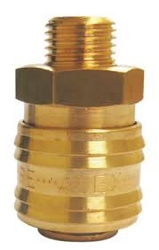 "3/8"" Male threaded Quick Coupling (Brass) from ABRADANT INTERNATIONAL LLC"