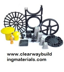 All Types PLASTIC ( pvc) AND CONCRETE SPACERS from CLEAR WAY BUILDING MATERIALS TRADING