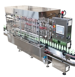 Filling machine for lube oil,shampoo in dubai from TOTAL PACKAGING SOLUTIONS FZC /WWW.TOTALPACKGULF.COM