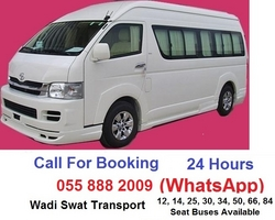 HIACE 14 SEATER FOR RENT from WADI SWAT PASSENGERS BUSES TRANSPORT