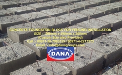 Concrete blocks with Fencing sheets for boundaries from DANA GROUP UAE-INDIA-QATAR [WWW.DANAGROUPS.COM]